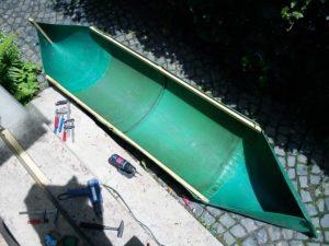 Regentonnenboot bau